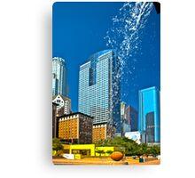 Pershing Square Waterfall Canvas Print