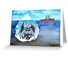 Ice Monster! Greeting Card