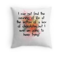 Life - it tastes ike chocolate! Throw Pillow
