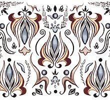 Mystic Lily Pattern by Irina Sztukowski