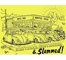 Waffle Haus ... Scattered , Covered & Slammed  Photographic Print