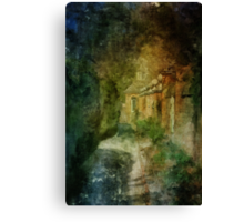 Walking In A Williamsburg Garden Canvas Print