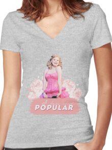 Popular Women's Fitted V-Neck T-Shirt