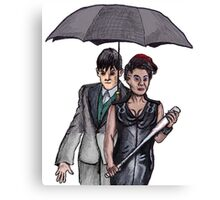 Gotham: Fish Mooney and The Penguin Canvas Print