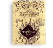 Map Harry potter castle, The Marauders Map Harry potter Canvas Print