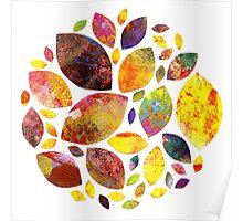Autumn Leaf Mandala Poster