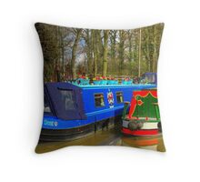 Narrowboat Heaven Sent - Ashby Canal Throw Pillow