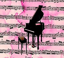 Pink Piano  by sparkleddesigns