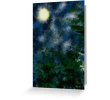 Bushes in moonlight Greeting Card