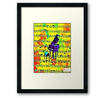 Retro Piano Framed Print