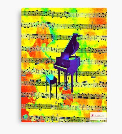 Retro Piano Canvas Print
