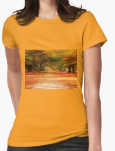 Foliage Path Womens Fitted T-Shirt