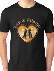 Tux And Flipper Unisex T-Shirt