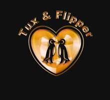 Tux And Flipper Unisex T-Shirt