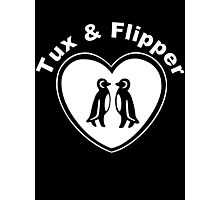Tux And Flipper Photographic Print