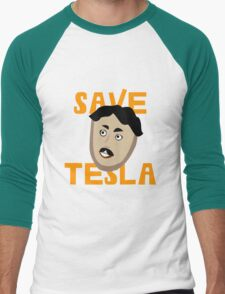 Save Tesla Men's Baseball ¾ T-Shirt
