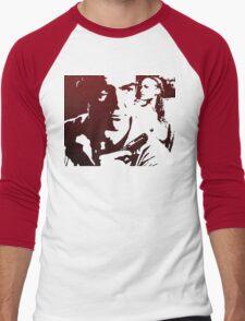 James Bond in Red Men's Baseball ¾ T-Shirt