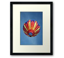 High flying balloon, turning up the burn! Framed Print