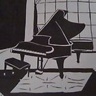 The piano by Kendra Taber