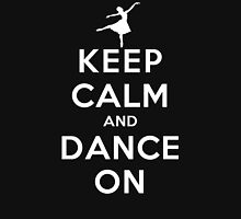 Keep Calm and Dance On (DS) Womens Fitted T-Shirt