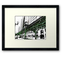 { chicago l - chicago el - series: 2 } Framed Print