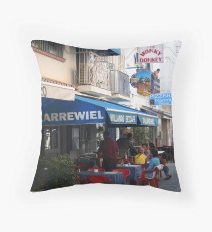 The Wonky Donkey - Benelmadena, Spain Throw Pillow