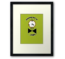 Running out of time! Framed Print