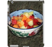 A Salad of Fruit in a Painted Bowl iPad Case/Skin