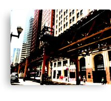 { chicago el series: 3 } Canvas Print
