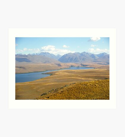 New Zealand: Lake Tekapo view from the Observatory Art Print
