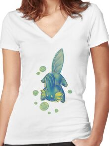 U liek Mudkips Women's Fitted V-Neck T-Shirt