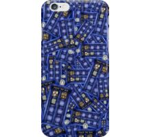 British Blue Phone box Pattern iPhone Case/Skin