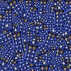 British Blue Phone box Pattern by PremanDesign