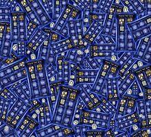 British Blue Phone box Pattern by PremanDesign