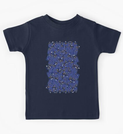 British Blue Phone box Pattern Kids Tee