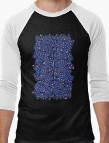 British Blue Phone box Pattern Men's Baseball ¾ T-Shirt