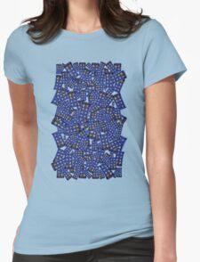 British Blue Phone box Pattern Womens Fitted T-Shirt