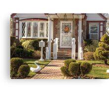 Entrance of a little house Canvas Print