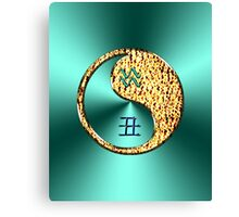 Aquarius & Ox Yin Fire Canvas Print