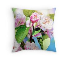 Spring into Bloom Matching Print Throw Pillow