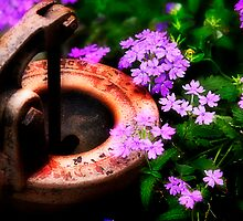 Surrounding Rusty Pump by Trudy Wilkerson