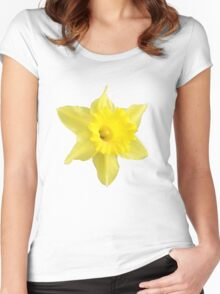 Yellow Daffodil Women's Fitted Scoop T-Shirt