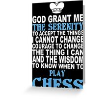 Limited Edition Funny Chess Tshirts Greeting Card