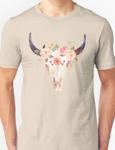 Ethnic Flowers Bull Head  T-Shirt