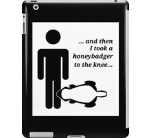 Honeybadger to the Knee iPad Case/Skin