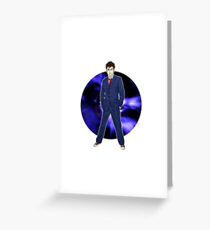 The 10th Doctor - David Tennant Greeting Card
