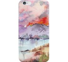 Veld Fire over the mountains iPhone Case/Skin