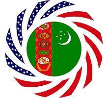 Turkmen American Multinational Patriot Flag Series Photographic Print