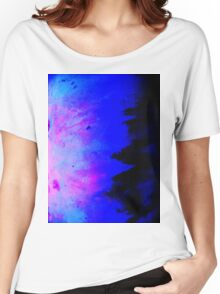 Blue Metal Abstract Women's Relaxed Fit T-Shirt