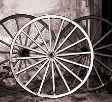 Old Wagon Wheels by Polly Peacock